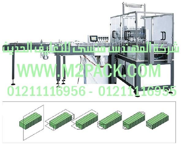 ماكينة تغليف بالسلوفان أوتوماتيكية آلية ثلاثية الأبعاد موديل m2pack com 802
